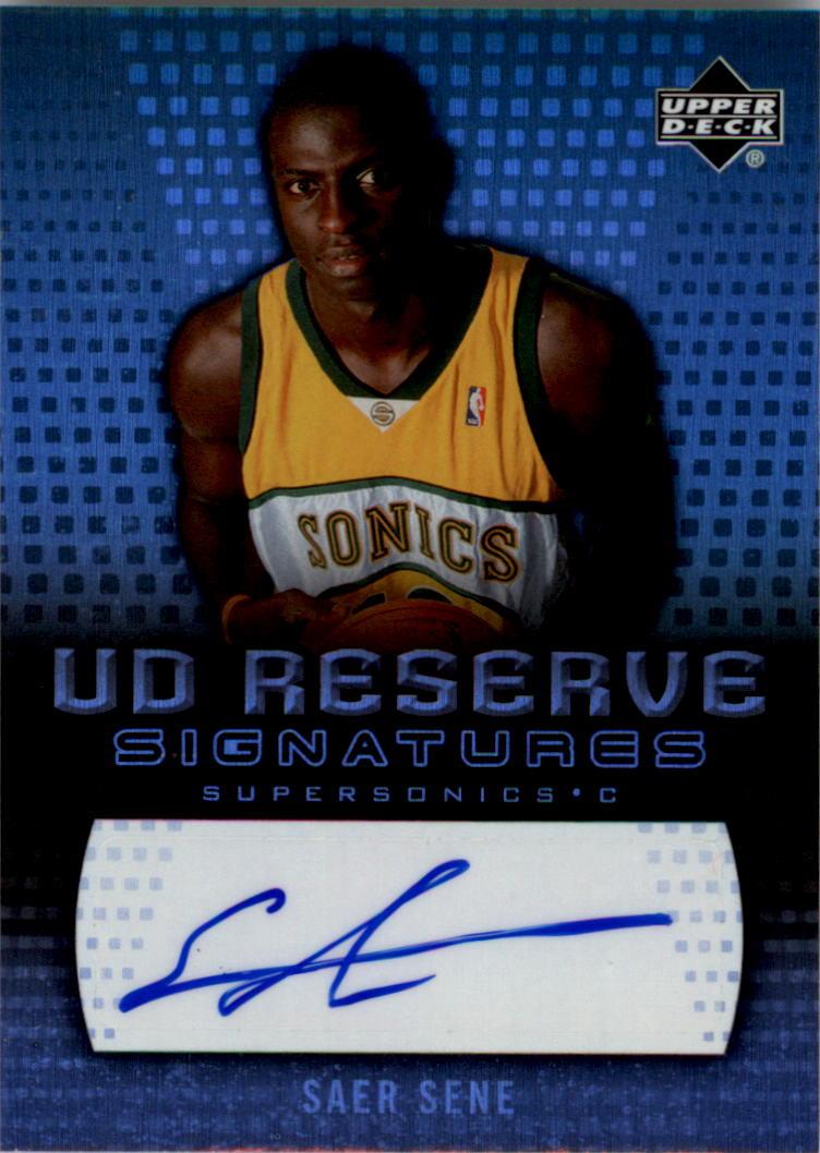 2006-07 UD Reserve Signatures #SS Saer Sene