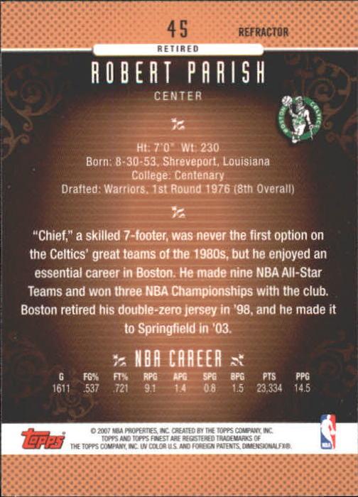 2006-07 Finest Refractors #45 Robert Parish back image
