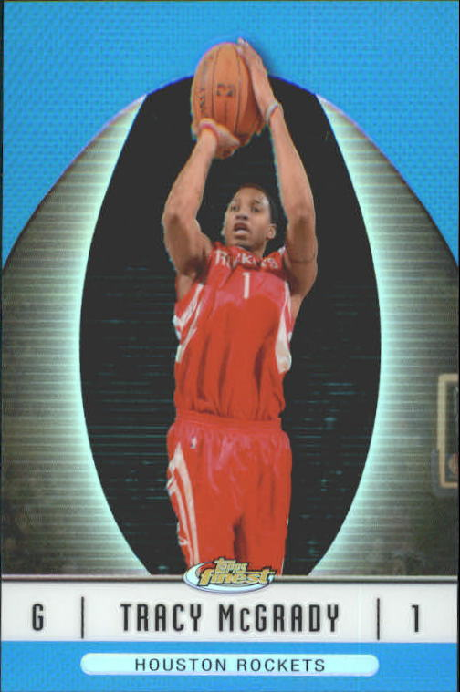 2006-07 Finest Refractors Blue #24 Tracy McGrady