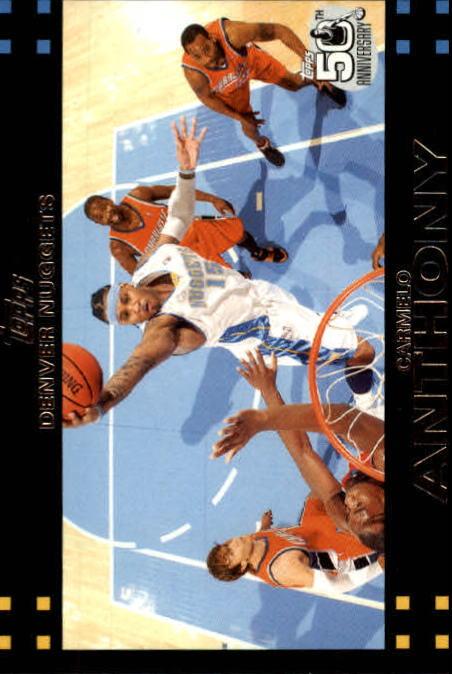 2007-08 Topps #15 Carmelo Anthony
