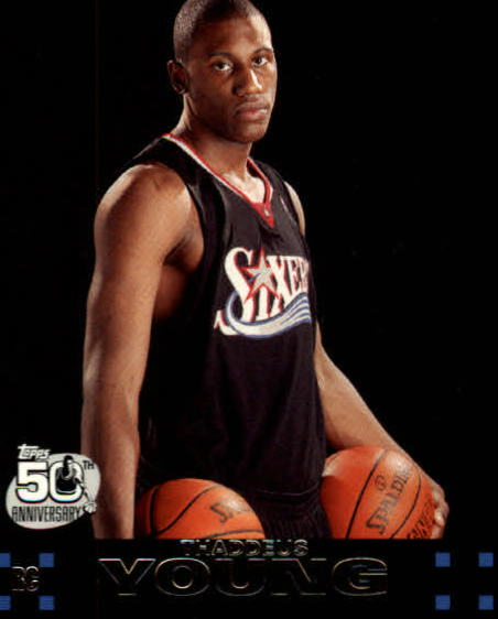 2007-08 Topps #122 Thaddeus Young RC