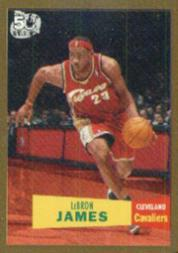 2007-08 Topps 1957-58 Variations Gold #23 LeBron James