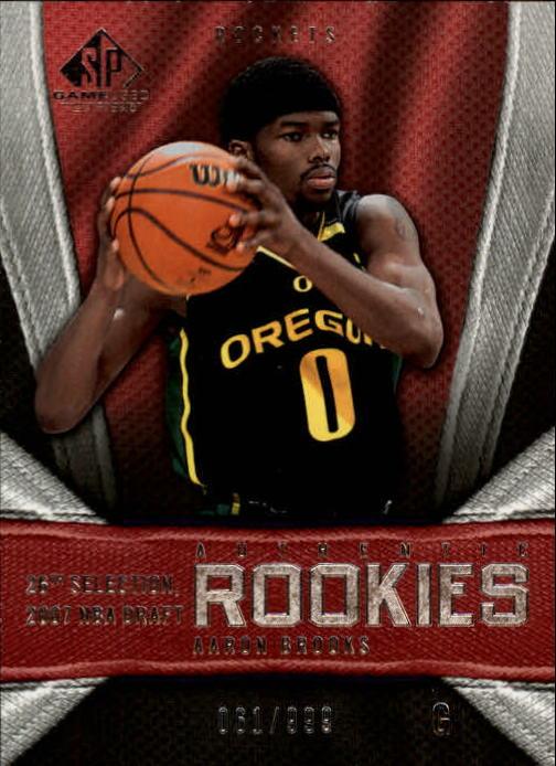 2007-08 SP Game Used #165 Aaron Brooks RC