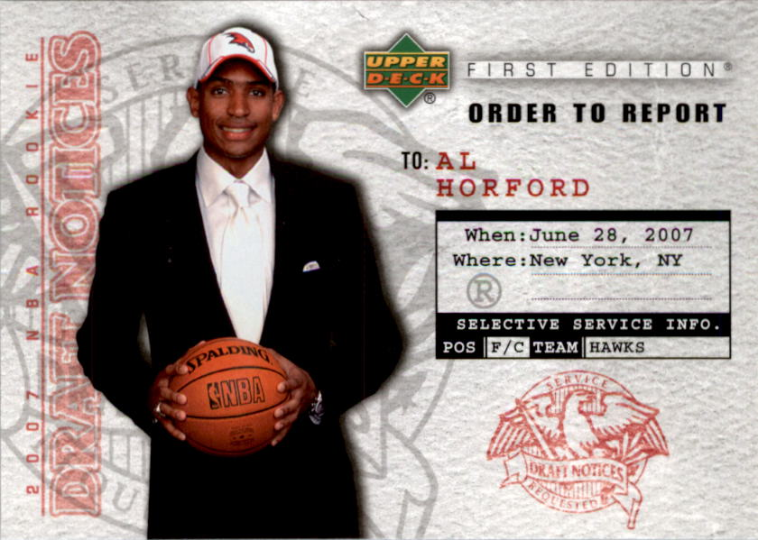 2007-08 Upper Deck First Edition Draft Notices #DN3 Al Horford