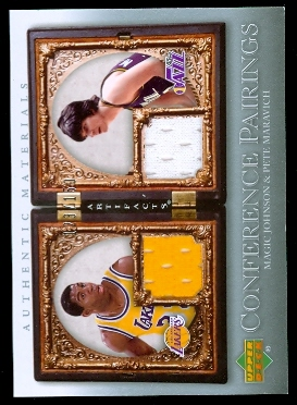 2007-08 Artifacts Conference Pairings #CPJM Magic Johnson/Pete Maravich