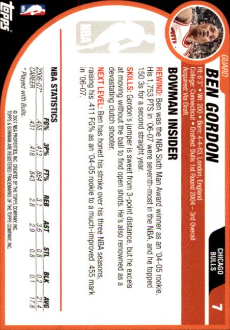 2007-08-Bowman-Basketball-1-110-Your-Choice-GOTBASEBALLCARDS thumbnail 15