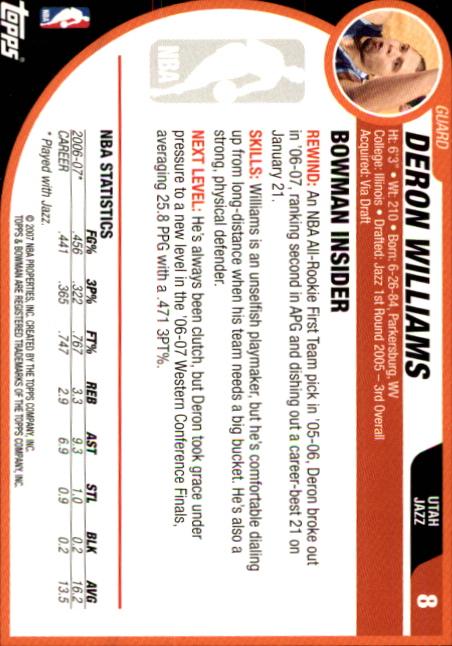 2007-08-Bowman-Basketball-1-110-Your-Choice-GOTBASEBALLCARDS thumbnail 17
