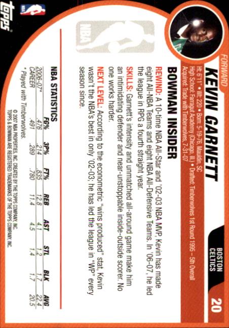 2007-08-Bowman-Basketball-1-110-Your-Choice-GOTBASEBALLCARDS thumbnail 41
