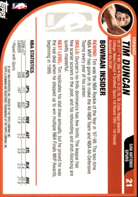 2007-08-Bowman-Basketball-1-110-Your-Choice-GOTBASEBALLCARDS thumbnail 43