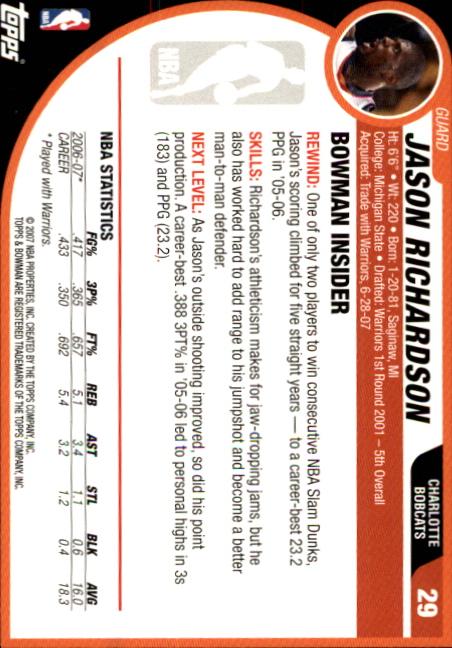 2007-08-Bowman-Basketball-1-110-Your-Choice-GOTBASEBALLCARDS thumbnail 57
