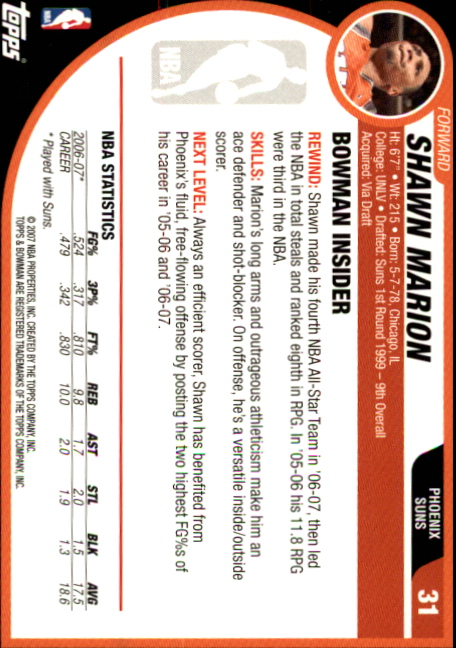 2007-08-Bowman-Basketball-1-110-Your-Choice-GOTBASEBALLCARDS thumbnail 61