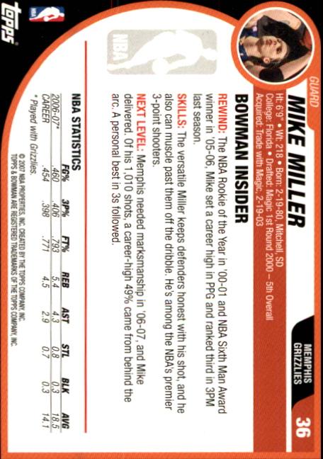 2007-08-Bowman-Basketball-1-110-Your-Choice-GOTBASEBALLCARDS thumbnail 67