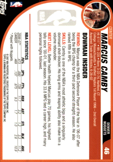2007-08-Bowman-Basketball-1-110-Your-Choice-GOTBASEBALLCARDS thumbnail 87