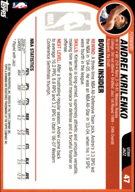 2007-08-Bowman-Basketball-1-110-Your-Choice-GOTBASEBALLCARDS thumbnail 89