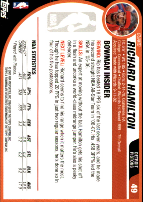 2007-08-Bowman-Basketball-1-110-Your-Choice-GOTBASEBALLCARDS thumbnail 93
