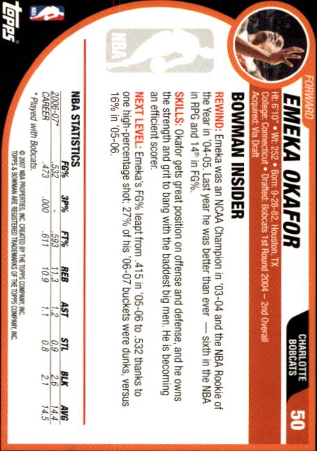 2007-08-Bowman-Basketball-1-110-Your-Choice-GOTBASEBALLCARDS thumbnail 95