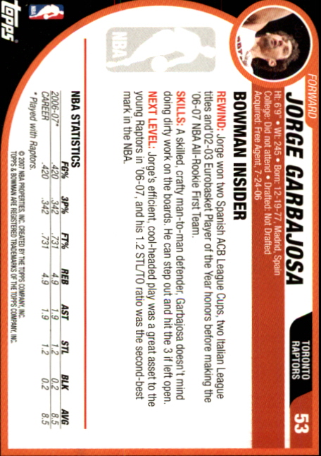 2007-08-Bowman-Basketball-1-110-Your-Choice-GOTBASEBALLCARDS thumbnail 101