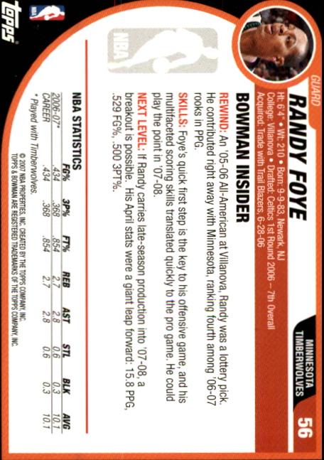 2007-08-Bowman-Basketball-1-110-Your-Choice-GOTBASEBALLCARDS thumbnail 107