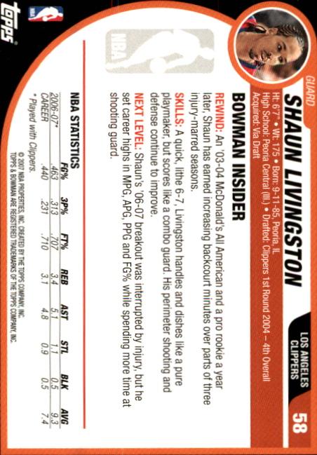 2007-08-Bowman-Basketball-1-110-Your-Choice-GOTBASEBALLCARDS thumbnail 111