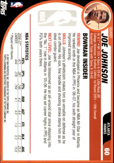 2007-08-Bowman-Basketball-1-110-Your-Choice-GOTBASEBALLCARDS thumbnail 115