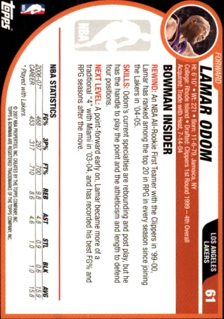 2007-08-Bowman-Basketball-1-110-Your-Choice-GOTBASEBALLCARDS thumbnail 117