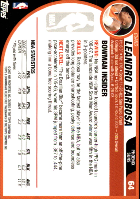 2007-08-Bowman-Basketball-1-110-Your-Choice-GOTBASEBALLCARDS thumbnail 123