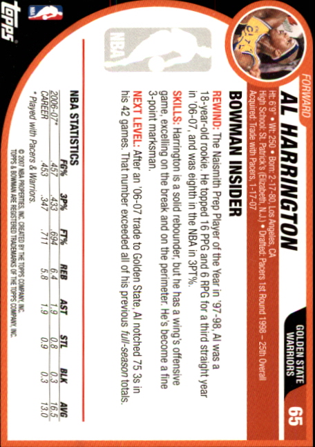 2007-08-Bowman-Basketball-1-110-Your-Choice-GOTBASEBALLCARDS thumbnail 125