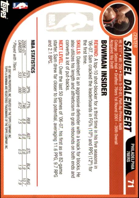 2007-08-Bowman-Basketball-1-110-Your-Choice-GOTBASEBALLCARDS thumbnail 137