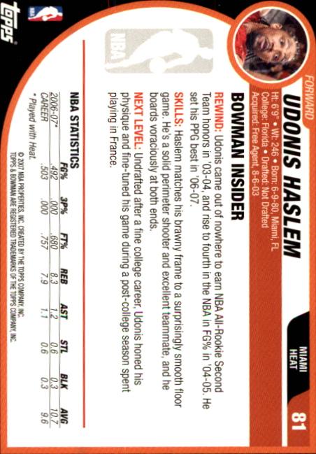 2007-08-Bowman-Basketball-1-110-Your-Choice-GOTBASEBALLCARDS thumbnail 157