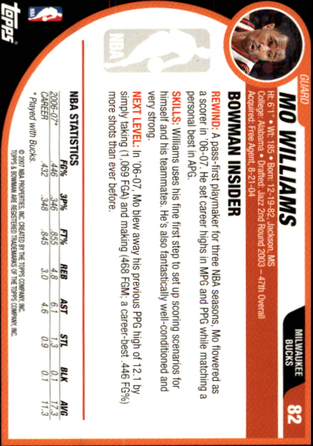 2007-08-Bowman-Basketball-1-110-Your-Choice-GOTBASEBALLCARDS thumbnail 159