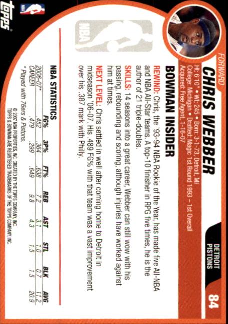 2007-08-Bowman-Basketball-1-110-Your-Choice-GOTBASEBALLCARDS thumbnail 163