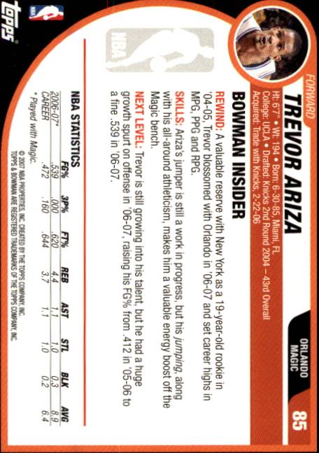 2007-08-Bowman-Basketball-1-110-Your-Choice-GOTBASEBALLCARDS thumbnail 165