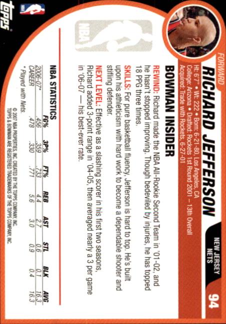 2007-08-Bowman-Basketball-1-110-Your-Choice-GOTBASEBALLCARDS thumbnail 181