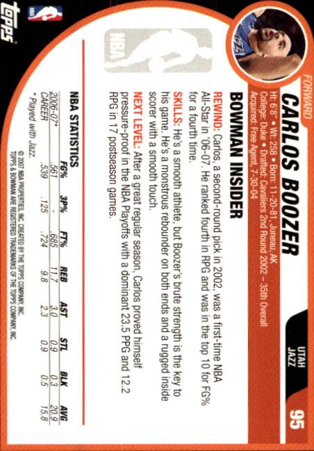 2007-08-Bowman-Basketball-1-110-Your-Choice-GOTBASEBALLCARDS thumbnail 183
