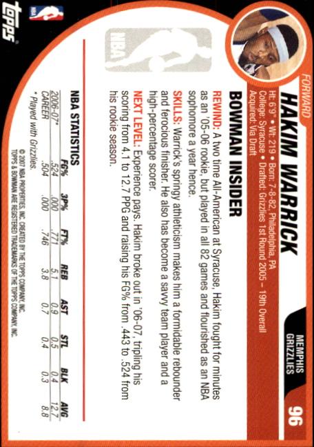2007-08-Bowman-Basketball-1-110-Your-Choice-GOTBASEBALLCARDS thumbnail 185