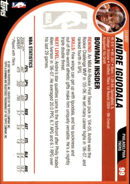 2007-08-Bowman-Basketball-1-110-Your-Choice-GOTBASEBALLCARDS thumbnail 191
