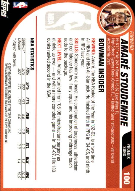 2007-08-Bowman-Basketball-1-110-Your-Choice-GOTBASEBALLCARDS thumbnail 193
