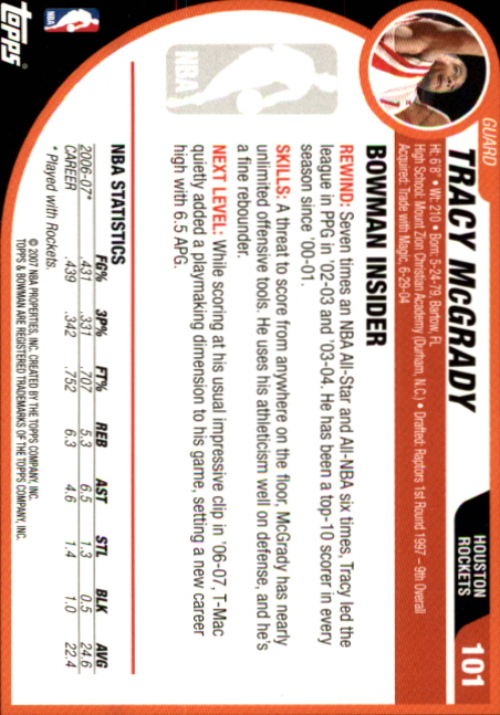 2007-08-Bowman-Basketball-1-110-Your-Choice-GOTBASEBALLCARDS thumbnail 195