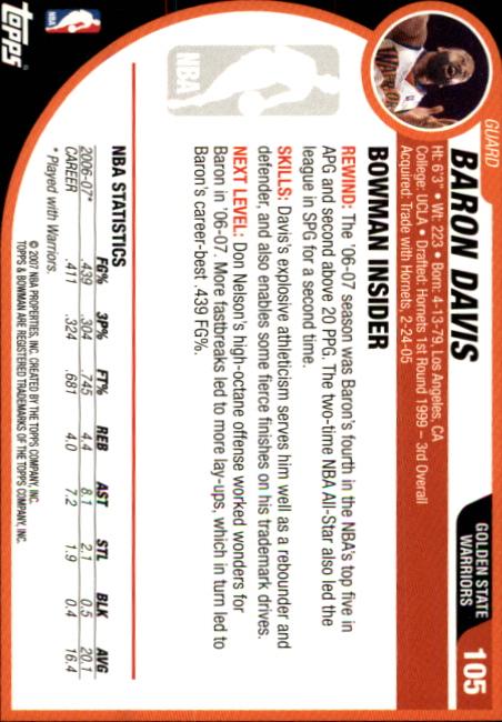 2007-08-Bowman-Basketball-1-110-Your-Choice-GOTBASEBALLCARDS thumbnail 203