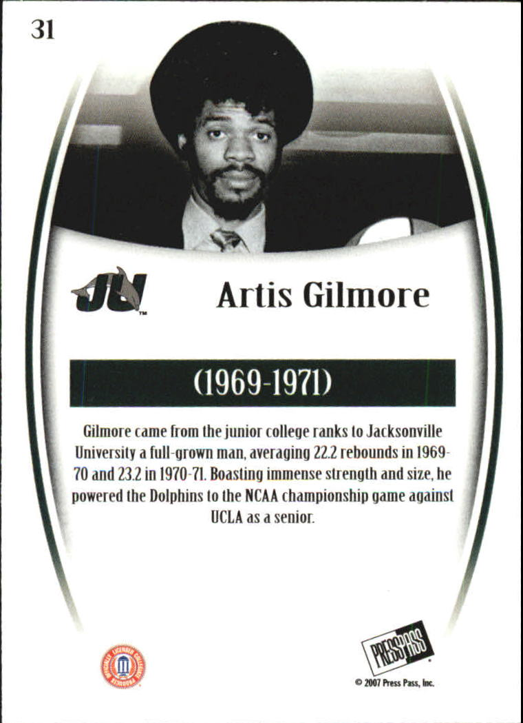 2007-08 Press Pass Legends #31 Artis Gilmore back image