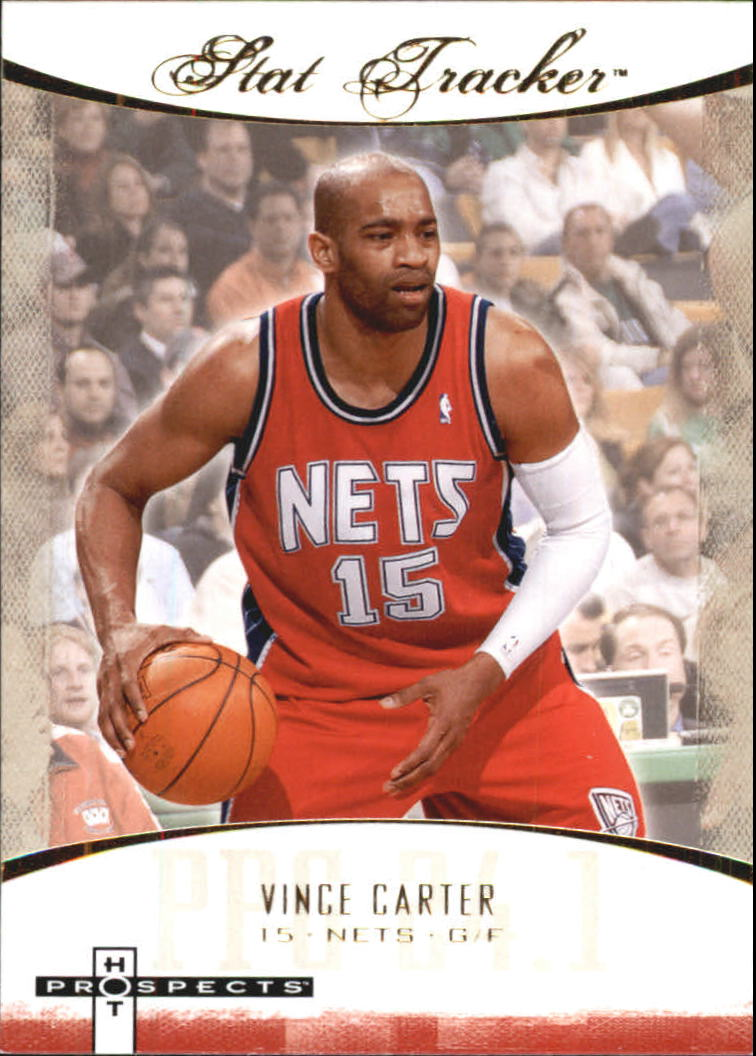 cbaa14e17008 2007-08 Fleer Hot Prospects Stat Tracker  35 Vince Carter - Nets