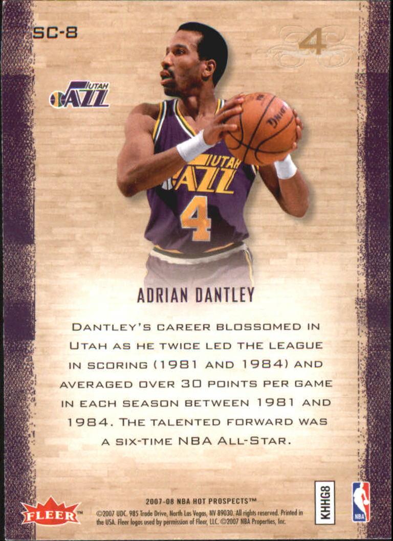 2007-08 Fleer Hot Prospects Supreme Court #8 Adrian Dantley back image