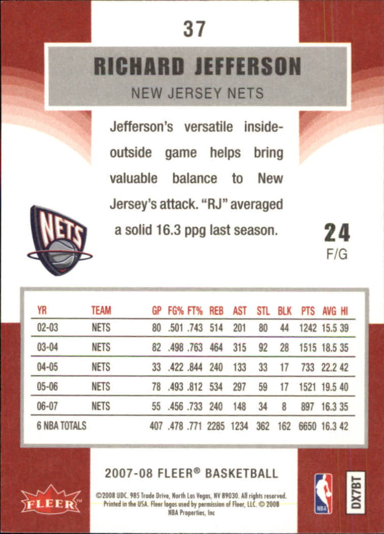 2007-08-Fleer-Basketball-1-250-Your-Choice-GOTBASEBALLCARDS thumbnail 71