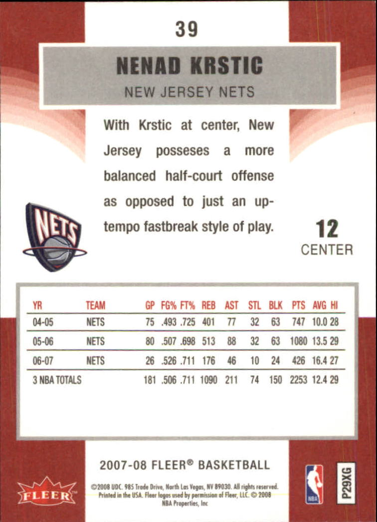 2007-08-Fleer-Basketball-1-250-Your-Choice-GOTBASEBALLCARDS thumbnail 73