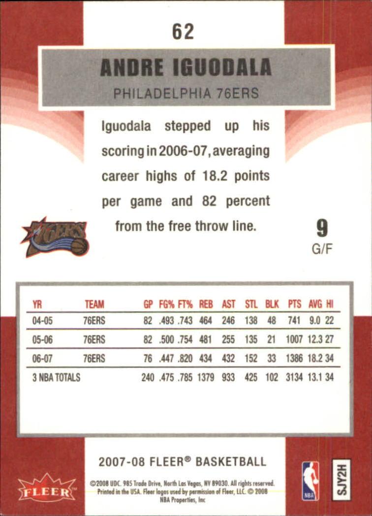 2007-08-Fleer-Basketball-1-250-Your-Choice-GOTBASEBALLCARDS thumbnail 113