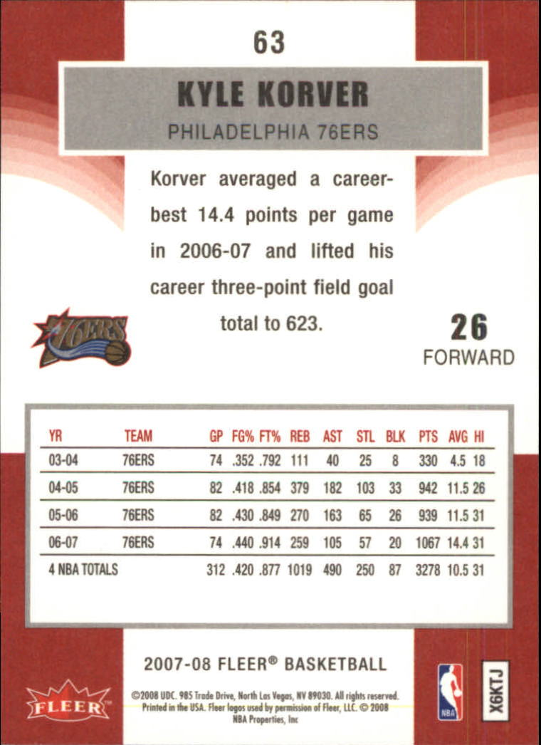 2007-08-Fleer-Basketball-1-250-Your-Choice-GOTBASEBALLCARDS thumbnail 115