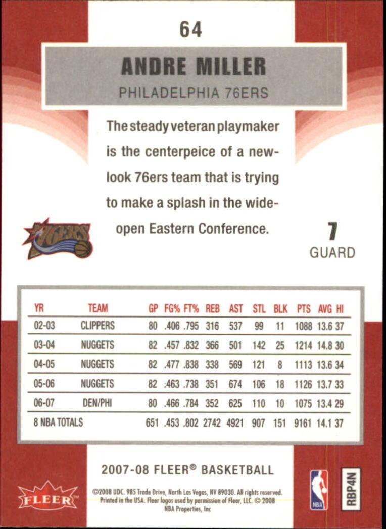2007-08-Fleer-Basketball-1-250-Your-Choice-GOTBASEBALLCARDS thumbnail 117