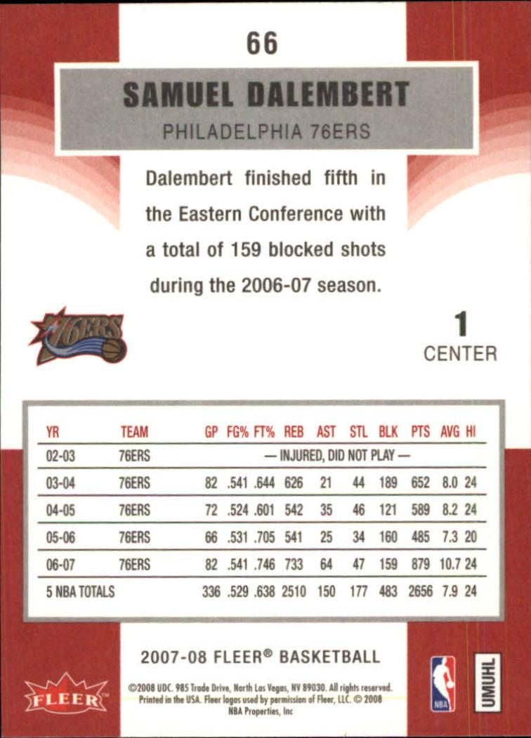2007-08-Fleer-Basketball-1-250-Your-Choice-GOTBASEBALLCARDS thumbnail 121