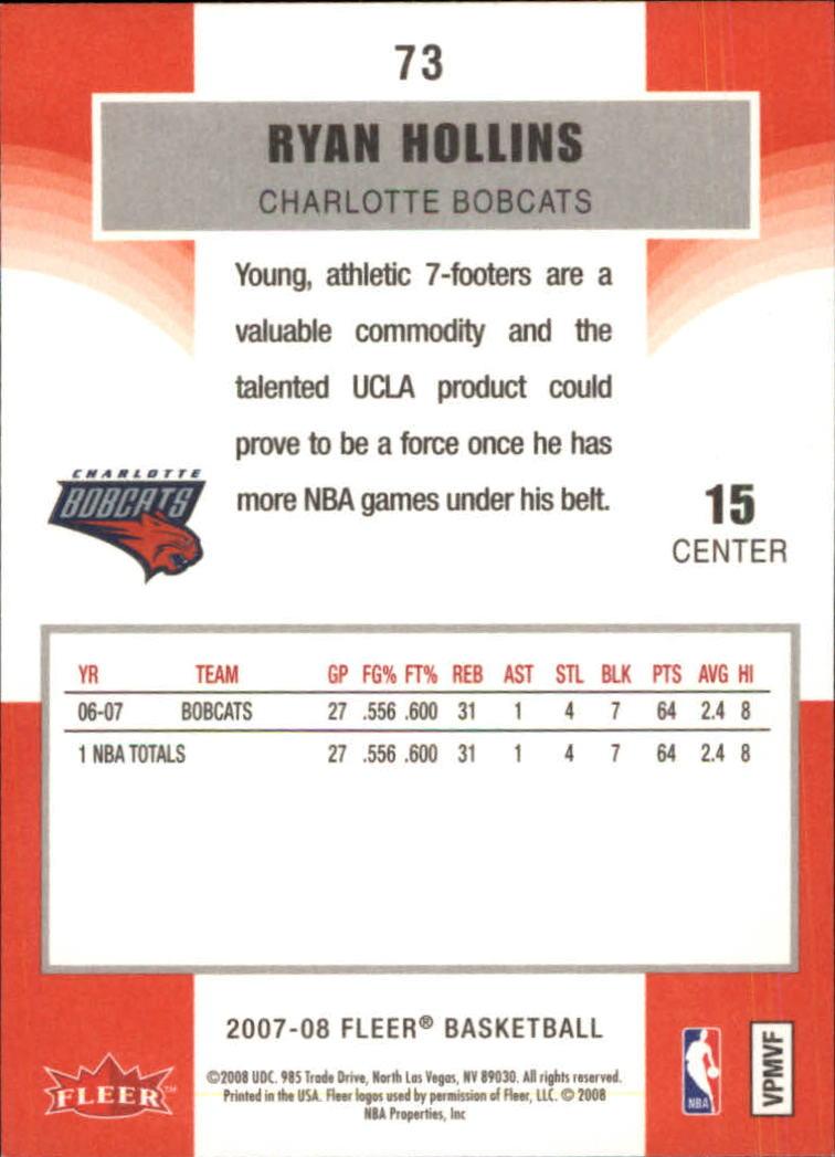 2007-08-Fleer-Basketball-1-250-Your-Choice-GOTBASEBALLCARDS thumbnail 135