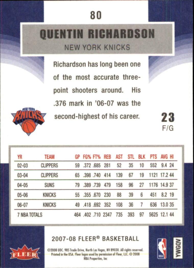 2007-08-Fleer-Basketball-1-250-Your-Choice-GOTBASEBALLCARDS thumbnail 147